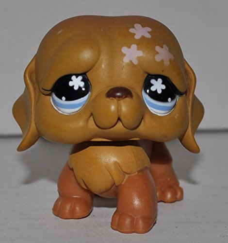St. Bernard #481 (Blue Eyes, Pink flowers on head) - Littlest Pet Shop (Retired) Collector Toy - LPS Collectible Replacement Single Figure - Loose (OOP Out of Package & Print)