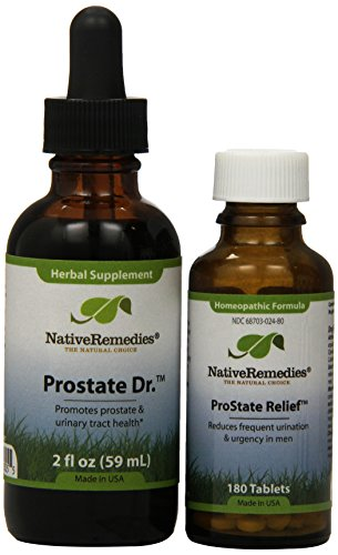 Native Remedies Prostate Relief And Prostate Dr. Combopack (one Of Each), 0.4 Units