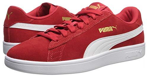PUMA Men's Smash V2 Sneaker, high Risk red White Team Gold, 4 M US