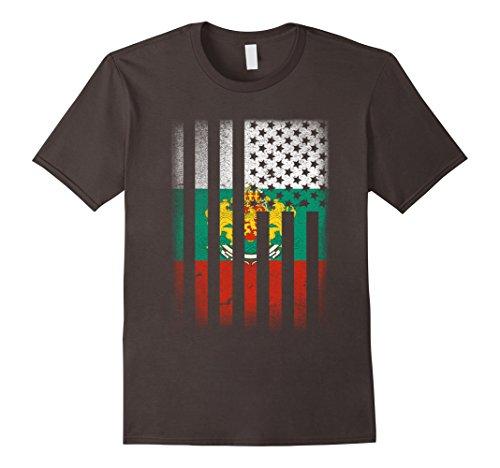 Mens Bulgarian American Flag T-shirt Bulgaria Medium (Bulgaria Flag)