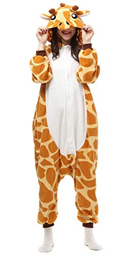 Cousinpjs Adult Cosplay Costume Animal Sleepwear Halloween Pajamas (Medium, Giraffe) -