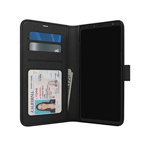 Clutch Polo - Skech Polo Book Clutch Wallet Detachable Protective Case for Samsung Galaxy S9 - Black