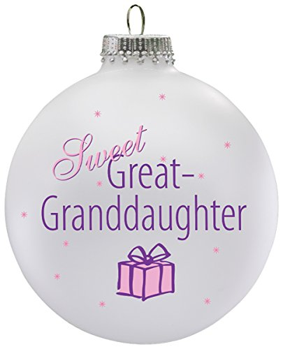 Miles Kimball Personalized Sweet Great Granddaughter Ball Ornament