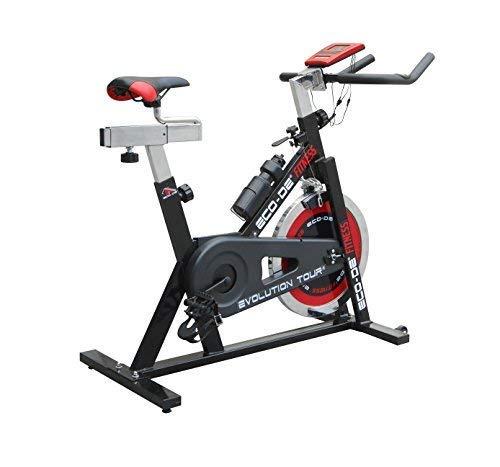 🥇 ECO-DE Bicicleta de Spinning Evolution Tour. Uso semiprofesional con pulsómetro