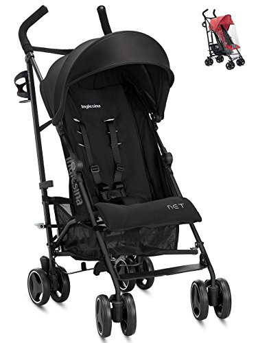Inglesina Net Stroller (Black) and Inglesina Rain Cover