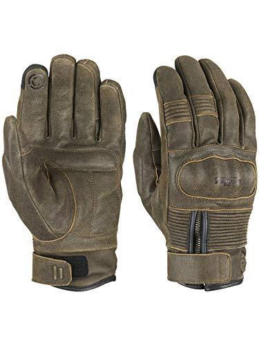 Furygan Rust James D30 All Season Motorcycle Leather Gloves (M, Brown)