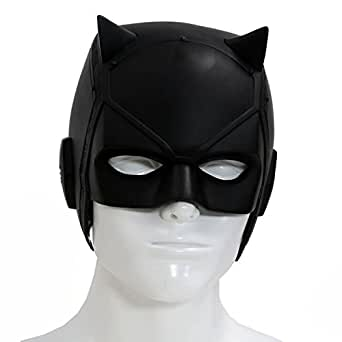 Dare Devil Mask Matt Murdock Cosplay Adult Black PVC Halloween Helmet