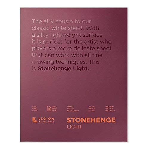 Stonehenge Legion Lightweight Pad, Cotton Sheets, 11 X 14 inches, White, 30 Sheets (L21-STP135WH1114) [並行輸入品] B07T9STZ7Y