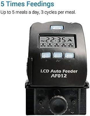 NICREW Acuario Alimentador Automático de Peces, Pantalla LCD Dispensador de Alimentos de Peces para Depósito de Peces