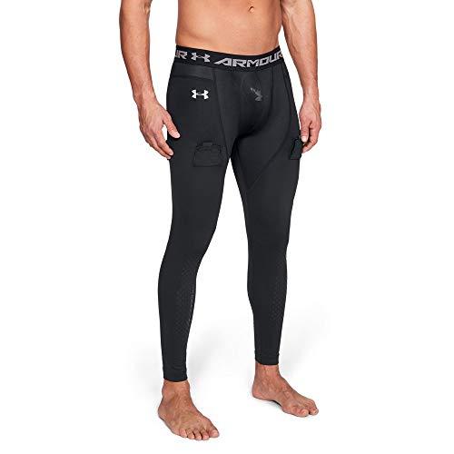 Under Armour Men's Hockey Compression Legging, Black (001)/Iridescent Foil, Large (Leggings Hockey)