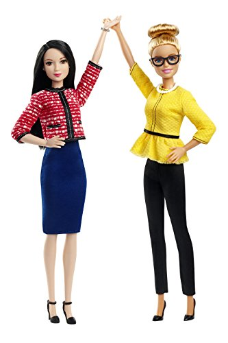 Asian Fashion Dolls - Barbie President & Vice President Dolls 2 Pack