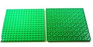 LEGO Bricks - Plancha (2 unidades, 16 x 16 pivotes), color verde claro