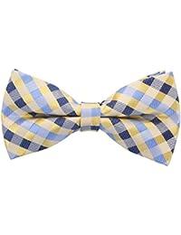 4 Pieces Wooden Bow Tie ORNOOU Handmade Customized Solid Wood Bow Tie Creative Wedding Wooden BowTie Necktie