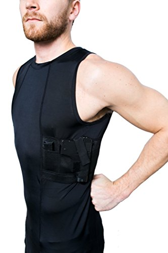 0eff01c25ba9d7 GrayStone Holster Tank Top Shirt Concealed Carry Clothing For Men - Easy  Reach Gun Concealment Compression