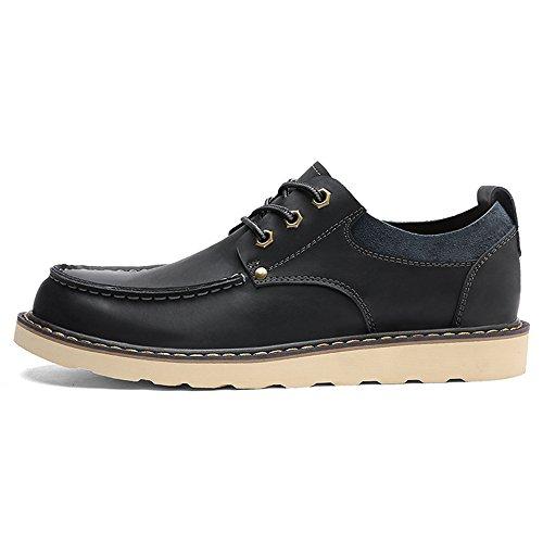 Shoes Lace Boots TAOFFEN Up Black Men Comfort BFwFWqnxSP