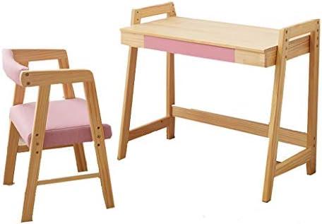 学習デスク 子供の学習テーブルと椅子セット、学校の高さ調節可能キッズデスクセット 、幼稚園のインタラクティブワークステーション、湾曲した背もたれ付きの家庭用本棚、掃除が簡単 (Color : Pink, Size : 65*36.5*64.5cm)