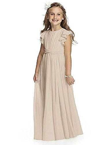 Castle Fairy Girls Holy Communion Long Gowns Pageant Junior Bridesmaid Evening Dresses 02 Champagne -