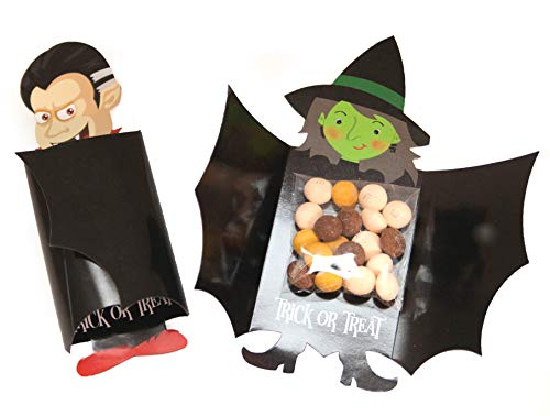 Halloween Candy Bar Labels (Scary Good Halloween Dracula Witch Candy Holder Treat Pack - Set of)