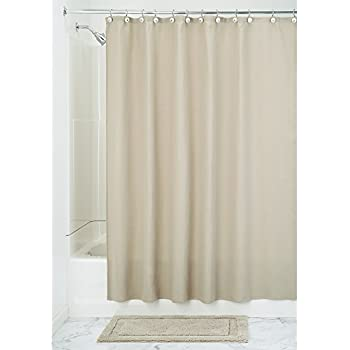 InterDesign York Hotel Cotton Blend Fabric Shower Curtain 72 Inches X