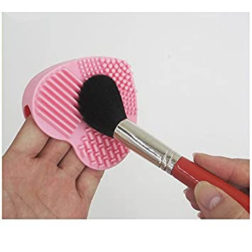 Face Cleanser Brush Cosmetic Cleaning Tool Silicone Heart Shaped Deep Cleaning Skin Care Beauty & Health