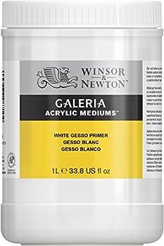 Winsor & Newton Galeria Acrylic White Gesso Primer, 1-liter 0