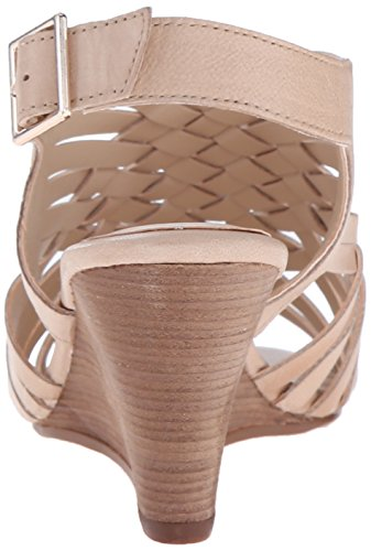 Steven by Steve Madden livvey de las mujeres sandalias de cuña Nude Leather