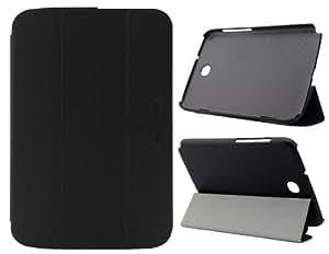 Caso de cuero del tirón Discoverybuy Faux para Samsung Galaxy Note 2 (Negro)