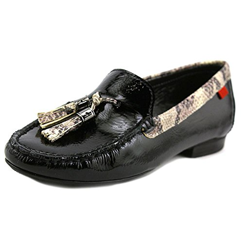 Leather New Toe Black York Joseph Marc Leopa Loafers Wall ST Closed Patent New Womens wY5Znnvxq
