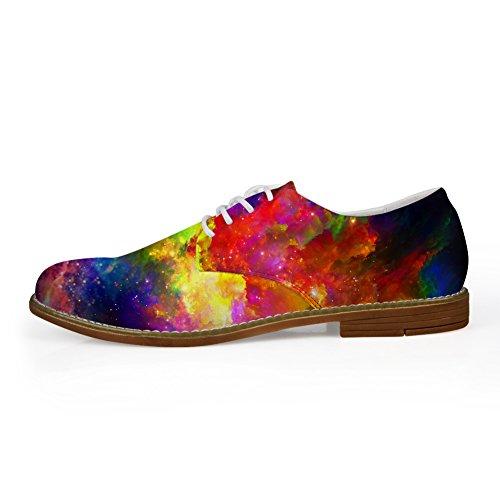 Mens Up HUGS Galaxy Galaxy Oxford Shoes Flats 3 Fashion IDEA Lace qEgwFg4C