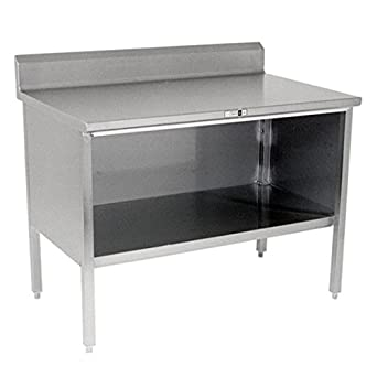 Amazoncom John Boos Gauge Stainless Steel Enclosed Base - 16 gauge stainless steel table