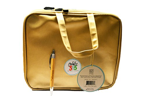Planner Storage Case - 2 Pcs Bundle: me & my BIG ideas Create 365 Gold Storage Case Bag and Comes with a Laser Engraved Kemah Bamboo Pen