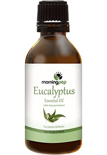 EUCALYPTUS OIL 4 OZ by Morning Pep Large Bottle Pure And Natural Therapeutic Grade , Undiluted PREMIUM QUALITY Aromatherapy EUCALYPTUS Essential oil (118 ML)