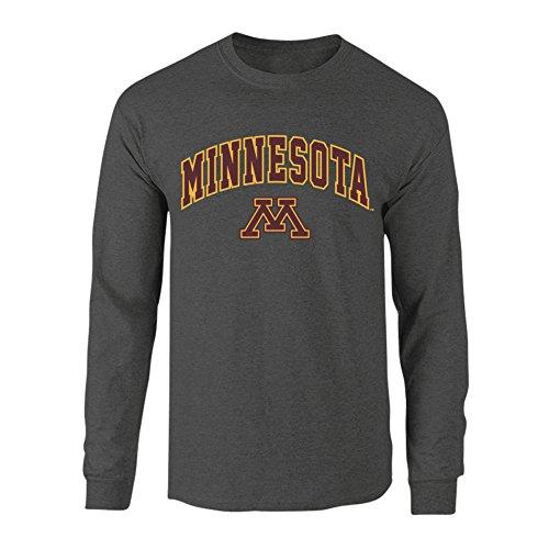 Minnesota Golden Gophers Long Sleeve Tshirt Arch Charcoal - M