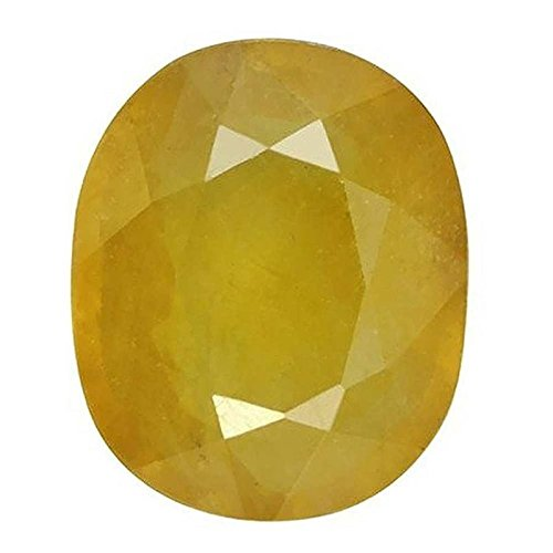 Getgemstones 3.5 Carat Yellow Sapphire Stone Original Certified Loose Natural Pukhraj (Ct 3.5 Stone Pear)