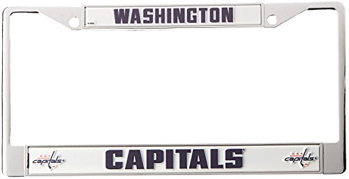 Rico Industries NHL Washington Capitals Standard Chrome License Plate Frame