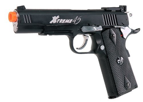 g&g armament xtreme 45 co2 airsoft pistol (black)(Airsoft Gun) by G&G Armament