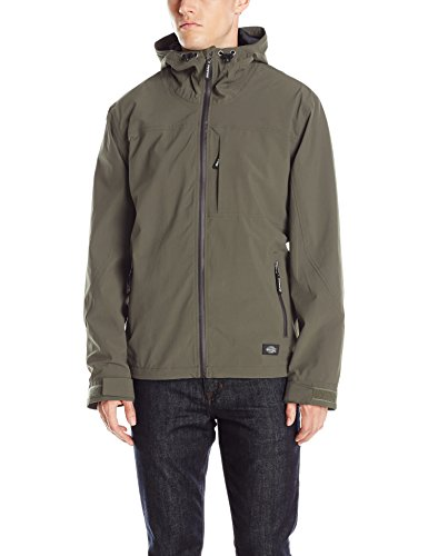 Dickies Men's Performance Waterproof Breathable Jacket with Hood, Moss, Medium