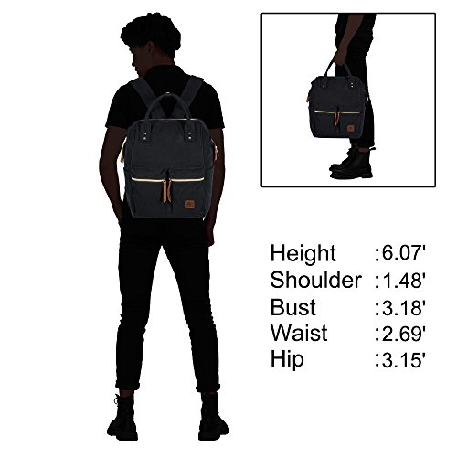 2325d3132bda Veegul Stylish Doctor Style Canvas School Backpack Travel Bag for Men Women  24 Liters Dual Pockets