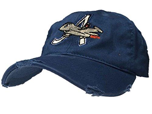 (Aberdeen Ironbirds Retro Brand MiLB Blue Worn Vintage Flexfit Hat Cap (L/XL))