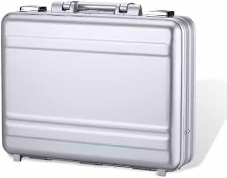 Tokers Metal briefcases for men Aluminum Attache cases Gun Metal 16 Inch(18.1X13.8X6.1Inch)