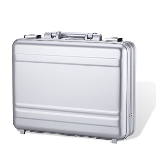 Attache case Metal Aluminum for men women Business foam Laptop Briefcase small larger (Aluminum Laptop Business Case Computer)