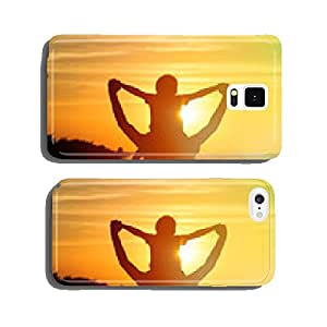 father and son on sunset cell phone cover case Samsung S6
