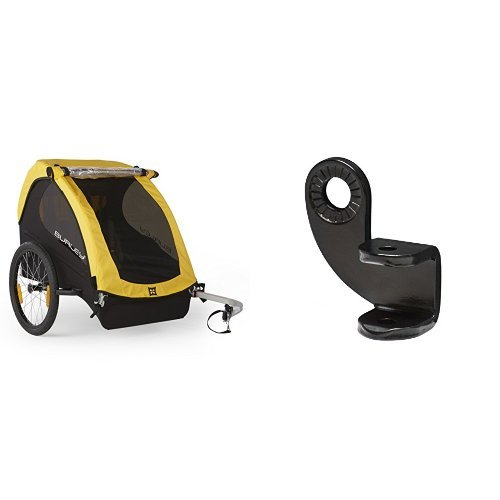 Burley Design Bee Bike Trailer, Yellow and Burley Design 12.2MM Steel Hitch Bundle by  (Image #1)
