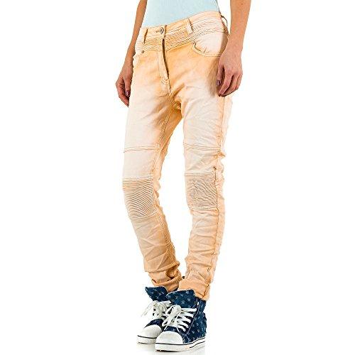 Mozzaar Biker Plus Size Boyfriend Jeans Für Damen , Apricot In Gr. 46 bei Ital-Design