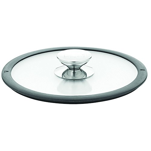 Berndes 007588 11.5 Inch Glass Lid with Black Silicon Rim