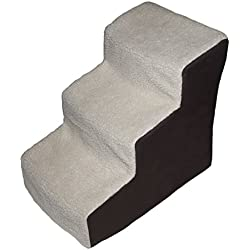 Pet Gear Easy Step III Deluxe Soft 3-Step Pet Stairs for Pets Up to 150-Pound, Oatmeal/Chocolate