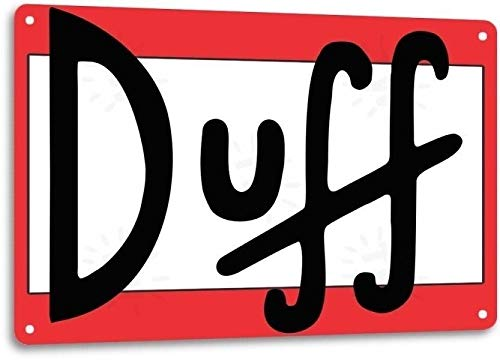 Duff Beer Logo Retro Cartoon The Simpson Wall Bar Man Cave Decor Metal Tin Sign TIN Sign 7.8X11.8 INCH (Beer Simpsons Duff)