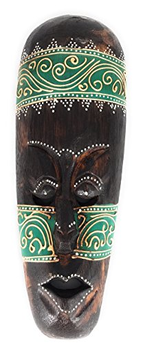 Green Primitive Tiki Mask (Tribal Tiki Mask 12