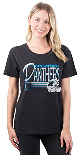 - Icer Brands NFL Carolina Panthers Women's T-Shirt Scoop Neck Short Sleeve Tee Shirt, X-Large, Black