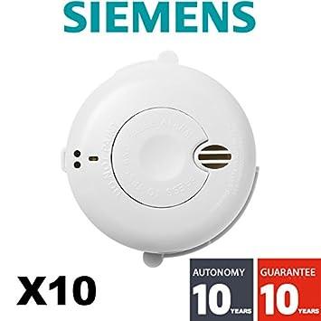 Siemens Rauchmelder 10er Pack Nf Autonomie Und 10 Jahre Garantie